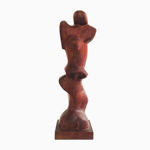 Sculpture Vintage en Acajou par A. Martins, 1960s