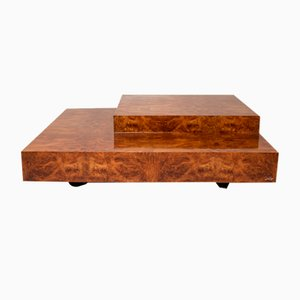 Table Basse Vintage par Willy Rizzo pour Mario Sabot