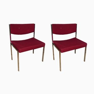 Tubular Steel Office Chairs, 1960s, Set of 2
