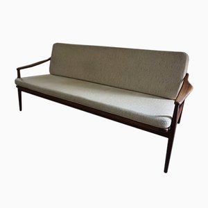 Vintage Teak and Cane Sofa by Hartmut Lohmeyer for Wilkhahn