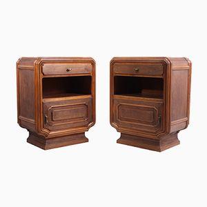 Vintage Italian Bedside Cabinets, 1920s, Set of 2