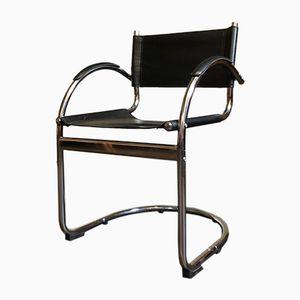 Vintage Chrome Hammock Office Chair, 1980s