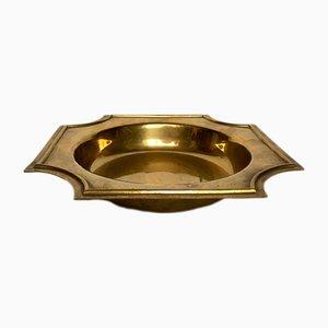 Deutscher Art Deco Aschenbecher aus Messing