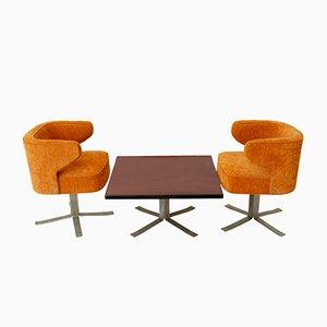 Tavolino da caffè e due poltrone di Gianni Moscatelli per Formanova, anni '70