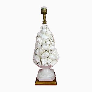 Lámpara de mesa española vintage de cerámica de CH Hispania, años 30
