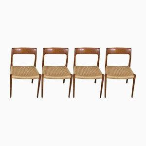 Vintage Teak Dining Chairs by Niels Otto Møller for J.L. Møllers, Set of 4