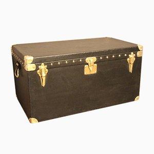 Baúl vintage negro de Louis Vuitton, años 20