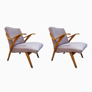 Czech Plywood Club Chairs, 1950s, Set of 2