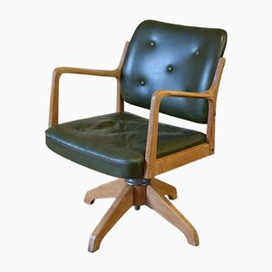 Vintage Swedish Captains Chair from A.B Svenska Aski