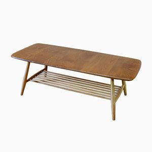 Blonde Coffee Table With Magazine Rack by Lucian Ercolani for Ercol