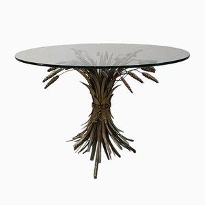 Table Basse Gerbe de Blé Hollywood Regency, 1970s