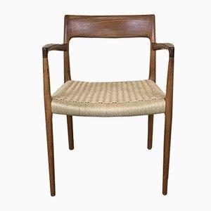 Vintage Modell 57 Armlehnstuhl aus Teak von Niels Otto Møller für J.L. Møllers