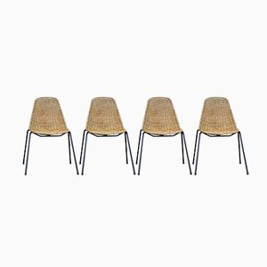 Vintage Wicker Chairs by Gian Franco Legler for Disegno Graffi Home, Set of 4