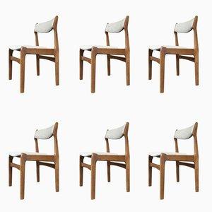 Chaises de Salon en Teck par Erik Buch, 1960s, Set de 6