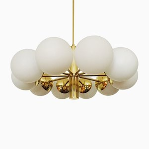 Large Golden Sputnik Chandelier from Kaiser Leuchten, 1960s
