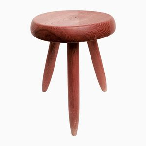 Vintage Tripod Stool by Charlotte Perriand, 1950s