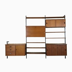 Vintage Swedish Teak Shelving Unit by Olof Pira for Soloform