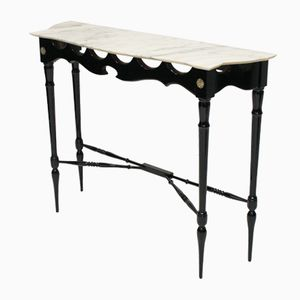 Mid-Century Italian Ebonised Console Table