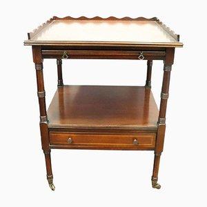Tavolino da caffè antico in mogano, fine XIX secolo