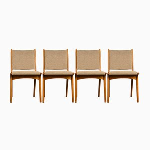Vintage Chairs by Karl-Erik Ekselius for J. O. Carlsson, 1960s, Set of 4