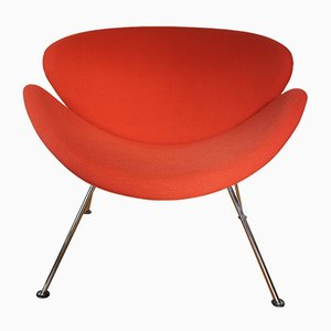 Chaise Slice Vintage Orange par Pierre Paulin pour Artifort, 1980s