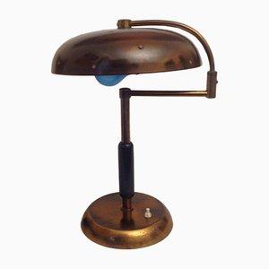 Lámpara de escritorio ministerial italiana vintage