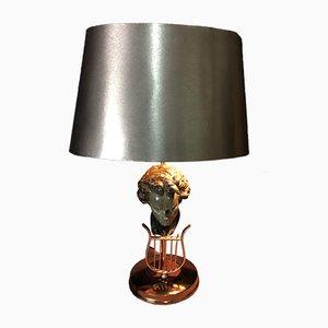Lámpara de mesa Beethoven de latón, años 50