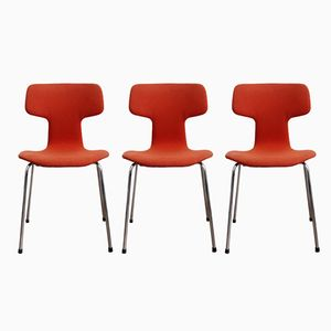 Vintage 3103 Hammer Chairs by Arne Jacobsen for Fritz Hansen, 1979, Set of 3