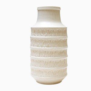 Weiße Keramikvase von Jasba, 1960er