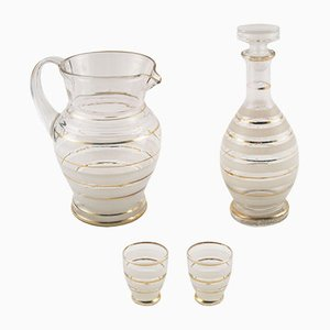 Art Deco Set aus Muranoglas
