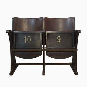 Vintage 2-Sitzer Kinositzbank von Thonet, 1950er