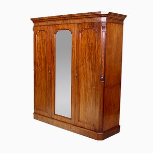 Large Antique Victorian Mahogany Wardrobe
