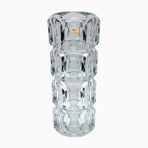 Jarrón alto de cristal de Joska Glaswerke, años 60