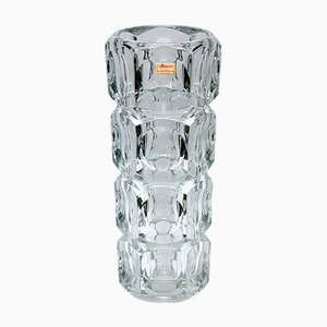 Tall Crystal Glass Vase from Joska Glaswerke, 1960s