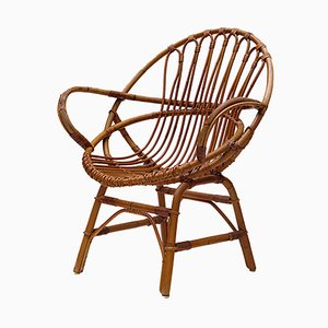 Rattan Lounge Chair, 1960s
