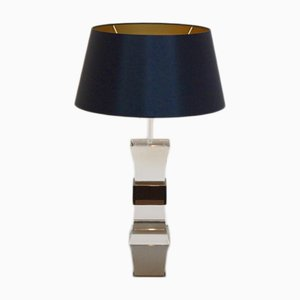 French Two-Colored Lucite Table Lamp, 1970s