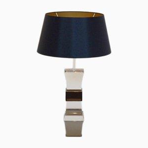 Lámpara de mesa francesa de lucite de dos colores, años 70