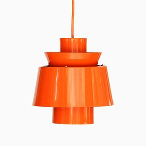 Orange Tivoli Pendant Light by Jørn Utzon for Nordisk Solar, 1970s