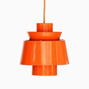 Orangefarbene Tivoli Hängelampe von Jørn Utzon für Nordisk Solar, 1970er