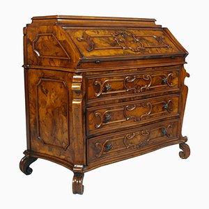 Secreter 700 Lombardo antiguo de madera nudosa y nogal de Bottega Milanese dei Valentini