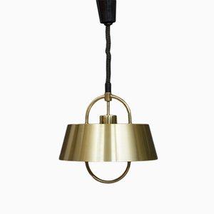 Lampe à Suspension Hercules Vintage en Laiton par Johannes Hammerborg pour Fog & Mørup
