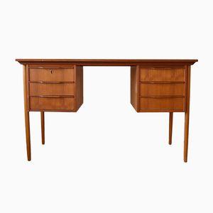 Dänischer Schreibtisch aus Teak & Buche, 1960er