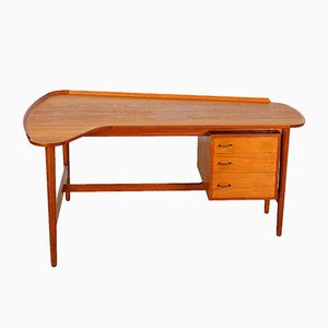 Vintage Teak BO85 Desk by Arne Vodder for Bovirke, 1953