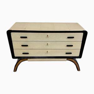 Vintage Italian Art Deco Parchment Dresser