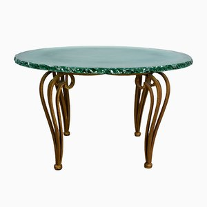 Vintage Italian Coffee Table from Cristal Art, 1960s