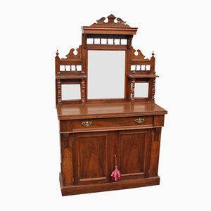 Antique Mahogany Buffet with Mirror