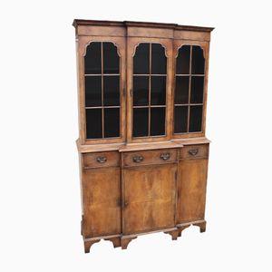 Large Walnut 3 Door Display Bookcase, 1920s
