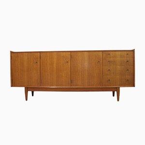 Aparador Mid-Century de teca y madera de arce de Maple & Co., años 60