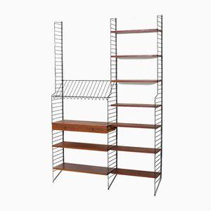 Teak String Shelf System by Kajsa & Nils Nisse Strinning, 1950s