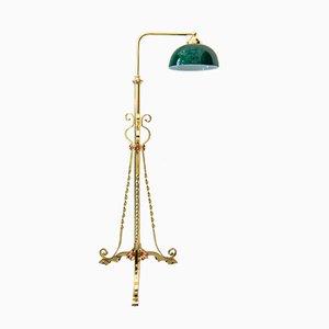 Verstellbare Art Deco Stehlampe, 1920er